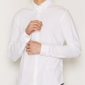 Premium by Jack & Jones Jprknit Oxford Shirt L/S Plain Kauluspaita Valkoinen