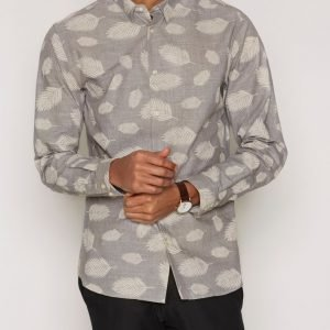 Premium by Jack & Jones Jprleaf Shirt L/S Plain Kauluspaita Harmaa