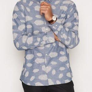 Premium by Jack & Jones Jprleaf Shirt L/S Plain Kauluspaita Tummansininen