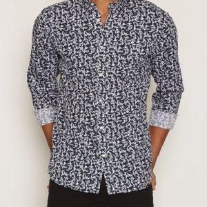 Premium by Jack & Jones Jprmartin Shirt L/S Plain Kauluspaita Tummansininen