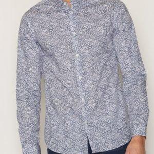 Premium by Jack & Jones Jprmartin Shirt L/S Plain Kauluspaita Tummanvioletti