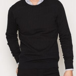 Premium by Jack & Jones Jprnewcarlson Knit Crew Neck Pusero Musta