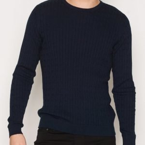Premium by Jack & Jones Jprnewcarlson Knit Crew Neck Pusero Tummansininen