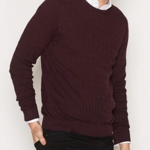 Premium by Jack & Jones Jprnewcarlson Knit Crew Neck Pusero Tummanvioletti
