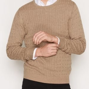 Premium by Jack & Jones Jprnewcarlson Knit Crew Neck Pusero Vaaleanruskea