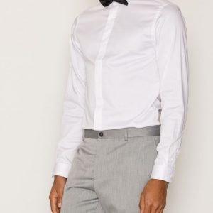 Premium by Jack & Jones Jprpenny Tux Shirt L/S Plain Kauluspaita Valkoinen