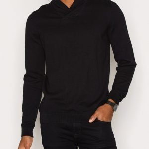 Premium by Jack & Jones Jprprime Knit Shawl Neck Pusero Musta
