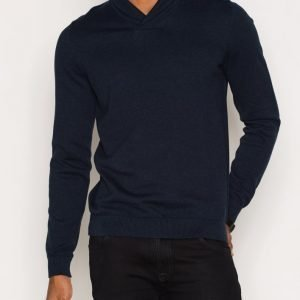 Premium by Jack & Jones Jprprime Knit Shawl Neck Pusero Tummansininen