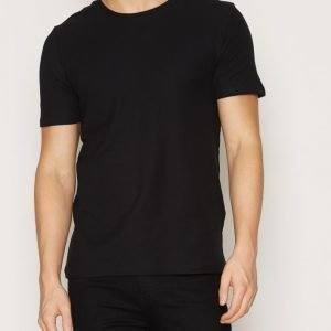 Premium by Jack & Jones Jprroon Tee Ss Crew Neck T-paita Musta