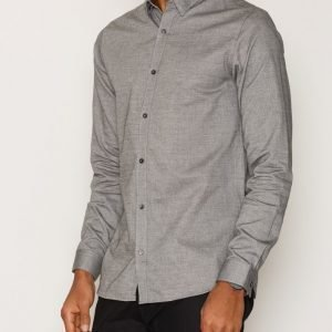 Premium by Jack & Jones Jprshadow Shirt L/S Plain Kauluspaita Musta