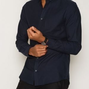 Premium by Jack & Jones Jprshadow Shirt L/S Plain Kauluspaita Tummansininen