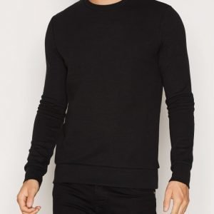 Premium by Jack & Jones Jprsimon Sweat Ls Crew Neck Pusero Musta