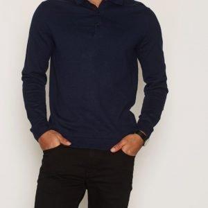 Premium by Jack & Jones Jprthomas Knit Polo Pikeepaita Tummansininen