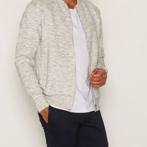 Premium by Jack & Jones Jprwall Sweat Zip Basball Neck Pusero Vaaleanharmaa
