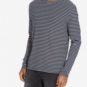 Premium by Jack & Jones Jprwind Sweat Ls Crew Neck Pusero Tummansininen