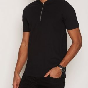 Premium by Jack & Jones Jprzip Polo Pikeepaita Musta