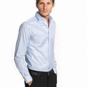 Premium by Jack & Jones jjprANDREW Shirt L/S Tight Fit Sup T-paita Blue