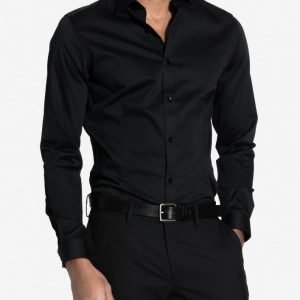 Premium by Jack & Jones jjprPARMA Shirt L/S Noos T-paita Musta