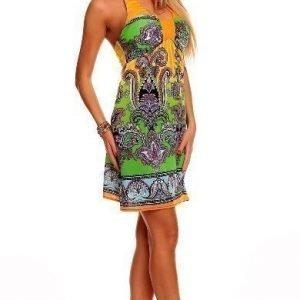 Print oranssi mekko