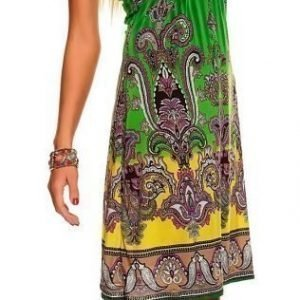 Print vihreä mekko (plus size)