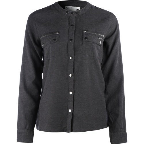 Pulz Cora l/s shirt Dark Grey