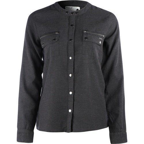 Pulz Cora l/s shirt Dark Grey