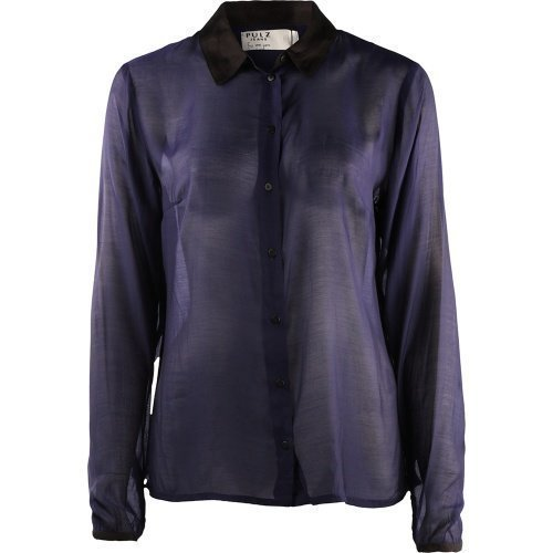 Pulz Jeans Andrea L/S Shirt Woman Blue