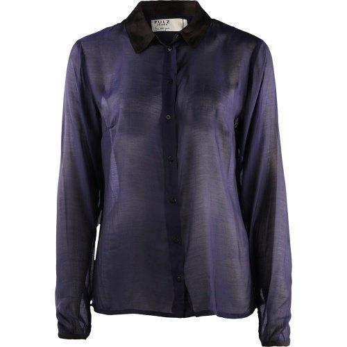 Pulz Jeans Andrea L/S Shirt Woman Blue