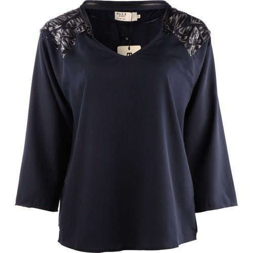 Pulz Jeans Bella Blouse Black