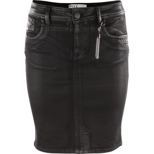 Pulz Jeans Gina Skirt Woman Black