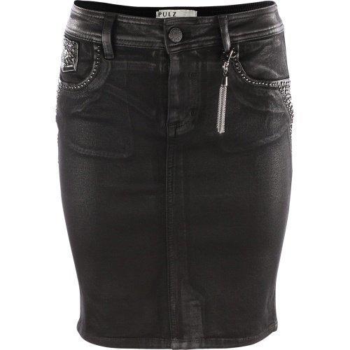 Pulz Jeans Gina Skirt Woman Black