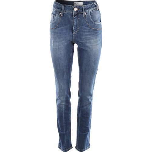 Pulz Melika Straight Jeans Medium Blue