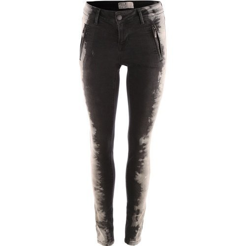 Pulz Naia Skinny Jeans Grey Denim Tie Dye