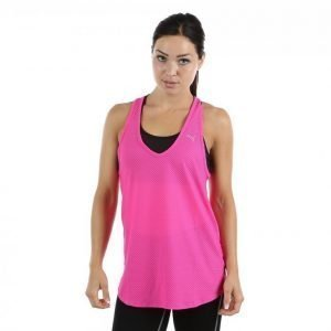 Puma Mesh It Up Layer Tank Treenitoppi Roosa