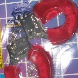 Punaiset pörröiset käsiraudat