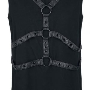 Punk Rave Leather Strape Top Tank Toppi