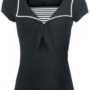 Pussy Deluxe Anchor Striped Naisten T-paita
