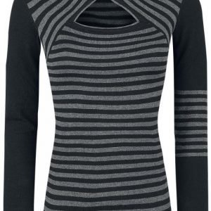 Pussy Deluxe Knit Stripes Hoodie Pusero