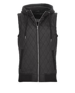 Quilted Hooded Vest Black
