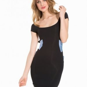 Quontum Wrap Back Strap Mini Dress Kotelomekko Blue