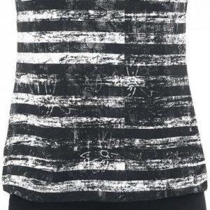 R.E.D. By Emp Black White Stripe Dress Mekko