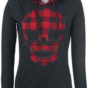 R.E.D. By Emp Checkered Detail Hoody Naisten Huppari