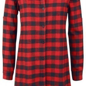 R.E.D. By Emp Checkered Oversize Shirt Naisten Pusero