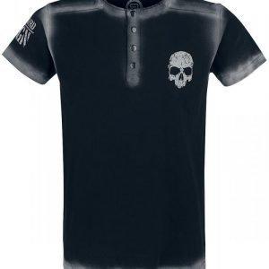 R.E.D. By Emp Embroidery Circle Skull Shirt T-paita