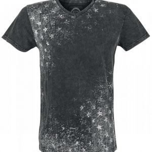R.E.D. By Emp Grunge Star V Neck T-paita