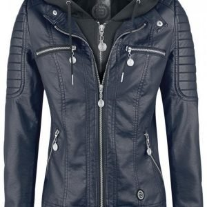 R.E.D. By Emp Hooded Faux Leather Jacket Naisten Välikausitakki