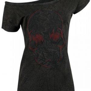 R.E.D. By Emp Skull Stitching Wideneck Naisten T-paita