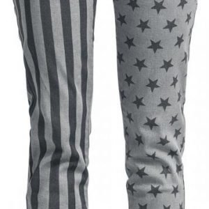 R.E.D. By Emp Stars And Stripes Pants Slim Fit Naisten Kangashousut