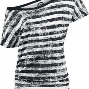 R.E.D. By Emp Striped Ladies Shirt Naisten T-paita