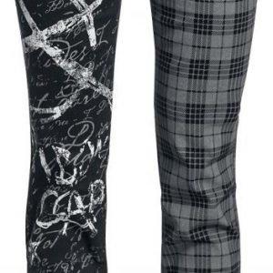 R.E.D. By Emp Tartan Print Split Pants Slim Fit Naisten Kangashousut